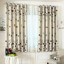short length game room curtains for bay windows