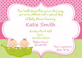 Twin Baby Shower Invitations Templates Ideas  Invitations IdeasTwin Baby Shower Favors To Make
