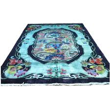 antique teal rug for overdyed id f