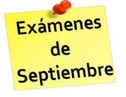 Resultado de imagen de Calendario exámenes de septiembre 2019