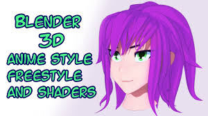 Hair Style Anime anime style freestyle shaders in blender youtube 7605 by wearticles.com