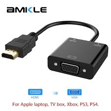 Amkle HDMI to VGA Adapter Cable HDMI VGA Converter Cable Support 1080P with  Audio Cable for HDTV XBOX PS3 PS4 Laptop TV Box|cable hdmi|hdmi to vgahdmi  to vga converter - AliExpress