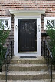 wooden front door with storm door. Interesting Door Reddish Red Brick Wall House Design With Black Wooden Door And Pella Strom  Between Two To Wooden Front Door With Storm I
