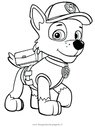 Paw Patrol Coloring Pages Rocky Page Marshall And Chase Rubble Sheet