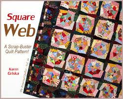 Karen Griska Quilts & Here's the new quilt pattern: Square Web! Adamdwight.com
