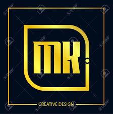 Mk Logo Design Vector Initial Letter Mk Logo Template Design Vector Illustration