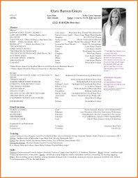 6 Film Actor Resume Resume Cover Note