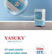 Quạt điều hòa hơi nước Yasuky Nhật Bản YK-35 35L nước- Bơm tự ngắt có lưới  chắn bụi- 100% động cơ đồng- Bảo hành tới 2 năm động cơ