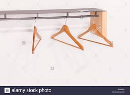 Wall mounted clothing rails Fifti Fifti Wooden Hangers On Wall Mounted Clothes Rail By Estudio Carme Pinos Barcelona Spain Alamy Wooden Hangers On Wall Mounted Clothes Rail By Estudio Carme Pinos
