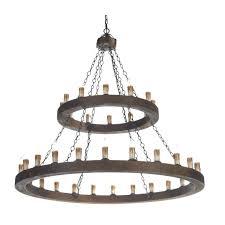 wooden chandeliers minstrel dark wood pendant chandelier 2 tier round fixer upper