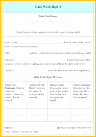 Employee Daily Activity Report Template Employee Daily Work