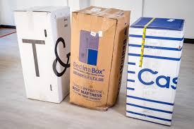 mattress in a box. arrival comparison for best mattress in a box