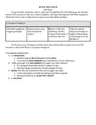 brave new world dystopian protagonist essay by englishpalooza tpt brave new world dystopian protagonist essay