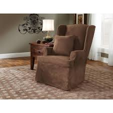 Living Room Chair Cover Sure Fit Soft Suede Short Dining Room Chair Covers Chairs Model