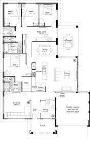 3 Bedroom Open Floor House Plans Creative Design Awesome Decoration