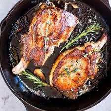 cast iron skillet pork chops easiest