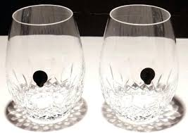 waterford red wine glasses 2 crystal stemless 5 1 4 marquis vintage aromatic waterford red wine glasses