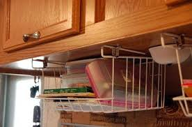 under cabinet basket storage