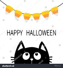 black face head silhouette looking up to bunting flags candy corn flag garland happy