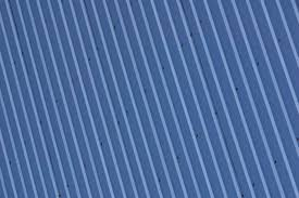 this corrugated metal roof has a color coating