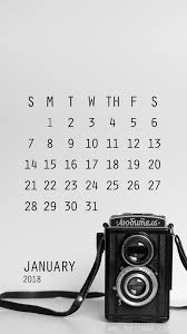 january 2018 calendar free free download calendar 2018 january iphone wallpaper the tin owl