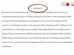 APA Sample Research Paper  quot Abstract  Introduction  and References quot