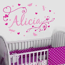 Wall Decal Size Chart Personalised Name Wall Stickers For Kids Nail Art Manicure