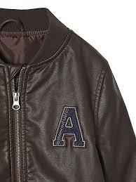 vertbaudet boys faux leather jacket b07b8s314r