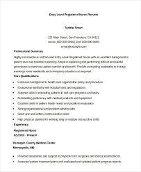 Entry-Level Registered Nurse Resume