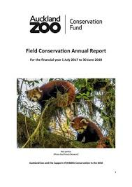 Auckland Zoo Field Conservation Annual Report 2017 2018 By
