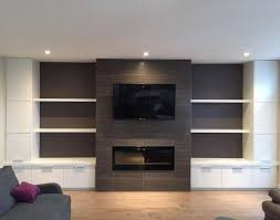 Small Picture Bradwell project media wall and fireplace finished just in time to