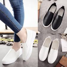 2019 spring women flats soft leather loafers ballet flats female casual white sneakers shoes women slip on round toe flat shoes designer shoes white shoes