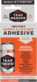 tear mender instant fabric leather adhesive packaged 2oz
