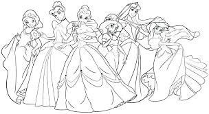Coloring Pages Free Printable Disney Princess Coloring Sheets