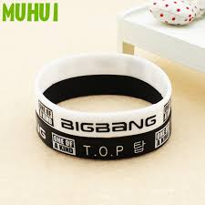 kpop bigbang top one of a kind silicon bracelets for women men jewelry wristband pulseras b075