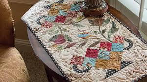 Candy Dish Table Runner Quilt Pattern by Edyta Sitar of Laundry ... & Candy Dish Table Runner Quilt Pattern by Edyta Sitar of Laundry Basket  Quilts -- Fat Quarter Shop - YouTube Adamdwight.com