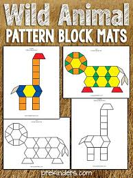 Pattern <b>Block</b> Safari | Zoo <b>animals</b> preschool, Pattern <b>blocks</b>, Zoo ...