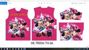 File vector áo thun trẻ em hình chuột Mickey mouse chất lượng cao