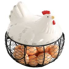 two handles have been adorned on the basket to allow you to carry this egg holder with ease a perfect addition to any farmhouse style decor