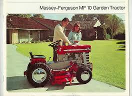massey ferguson mf 10 lawn and garden tractor brochure 630 blade plow mower 1724927620