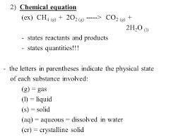 2 chemical equation ex ch 4 g 2o 2