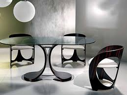 ... Tables Unique Modern Dining Room Furniture Set Design Model Home Decor  Japanese Style With Toughened Glass ...