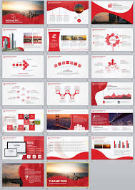 Red Ppt 20 Red Business Report Powerpoint Templates