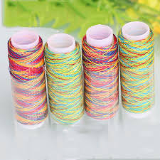 5Pcs/pack Rainbow Color Sewing Thread Hand Quilting Embroidery ... & 5Pcs/pack Rainbow Color Sewing Thread Hand Quilting Embroidery Sewing Thread  for Home DIY Sewing Adamdwight.com