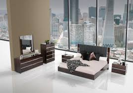 Modern Bedroom Sets King Modrest Luxor Talian Modern Ebony Lacquer Bedroom Set Bellissi