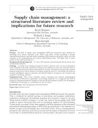 Global Supply Chain Design A Literature Review And Critique Pdf Supply Chain Management A Structured Literature Review