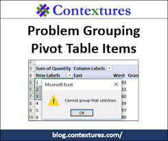 Pivot Table Chart Excel 2016 Problem Grouping Pivot Table Items Contextures Blog