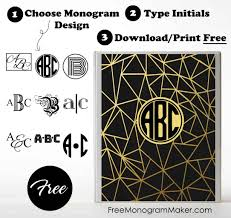 create binder cover free monogram binder cover customize online instant download