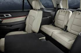 2017 explorer all seating rows 2017 rear cabin area