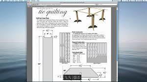 Tie Quilting Frame Plans Easy to build & Free From Americanknitter ... & Tie Quilting Frame Plans Easy to build & Free From Americanknitter.com -  YouTube Adamdwight.com